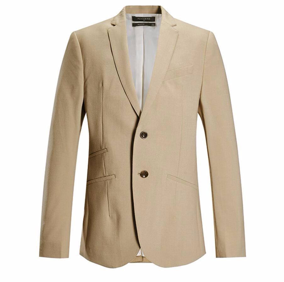 16.1 Handsome men\'s suit jacket quality custom khaki wedding the groom\'s best man suit jacket lapel style men\'s suit jacket