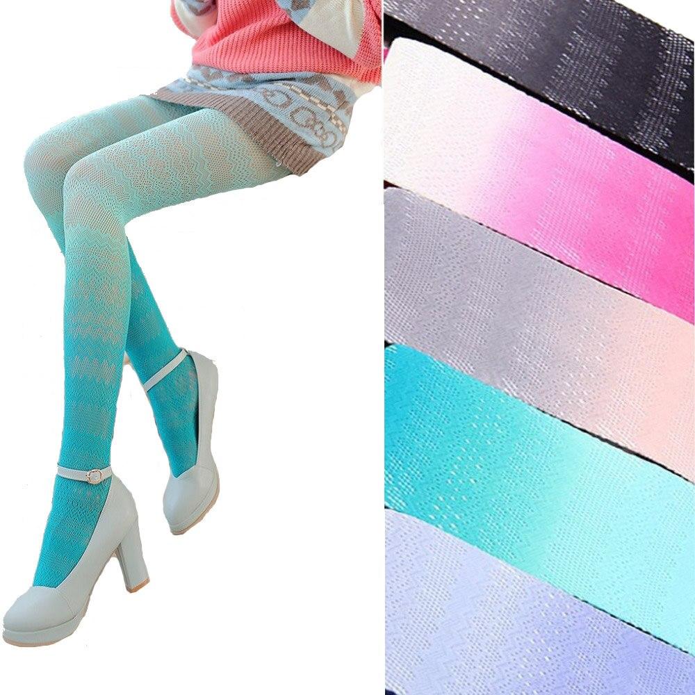 Նորաձևություն Japaneseապոնական ժանյակ Լոլիտա գուլպաներ Սեքսուալ տիկնայք Fishnet զուգագուլպաներ Kawaii Գրադիենտ գույնի ներքնազգեստի գործարանի ելք