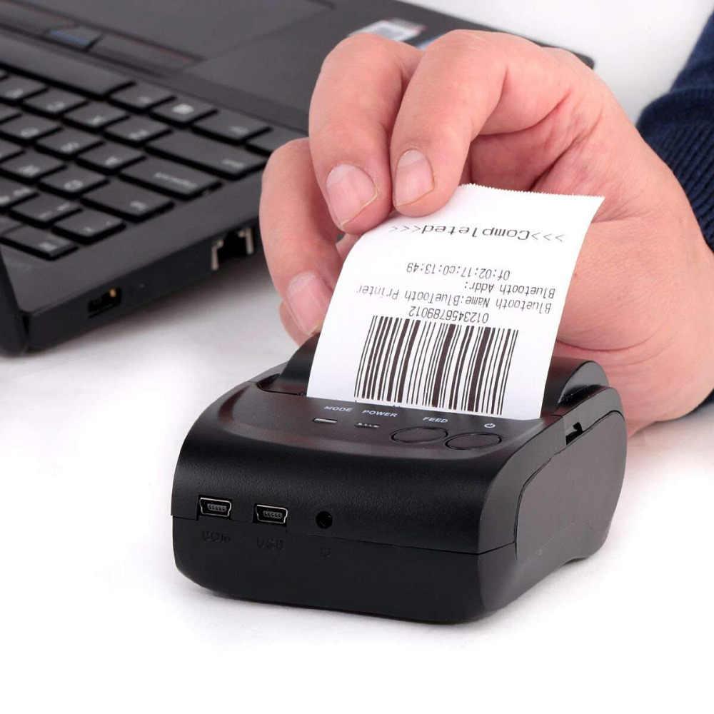 Термальный принтер 58 мм Bluetooth Android IOS мини термографический кассовый для печати чеков принтер Счетная машина супермаркет портативный принтер GZM5803