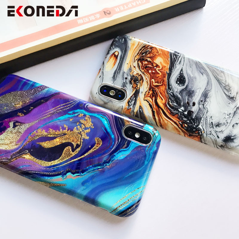 Image 3 - EKONEDA Soft IMD Case For iPhone X Case Marble Phone Cases For iPhone 7 Case Silicone Cover For iPhone 6S 7 8 Plus XS Max XR-in Fitted Cases from Cellphones & Telecommunications