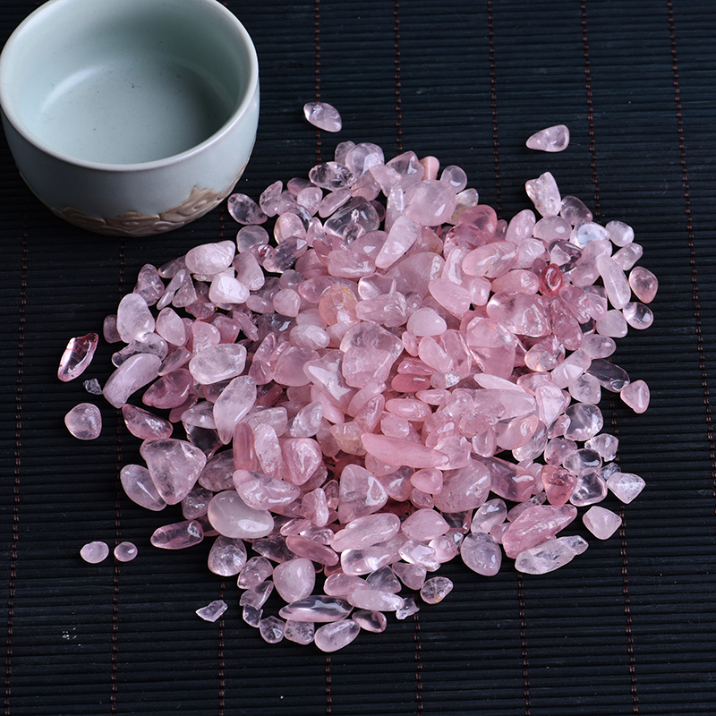 Mineral-Specimen Crafts Aquarium-Stone Healing Rose-Quartz White Crystal Mini Rock Home-Decoration