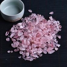 50g натуральный розовый кварц белый кристалл мини-рок-минеральные образец Исцеление может быть использован для аквариума камень украшения дома ремесел