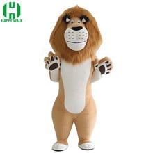 W nowym stylu 2.6m 3m lew nadmuchiwany kostium lew kostium maskotka do reklamy dostosuj odpowiedni dla 1.7m do 1.95m dorosłych