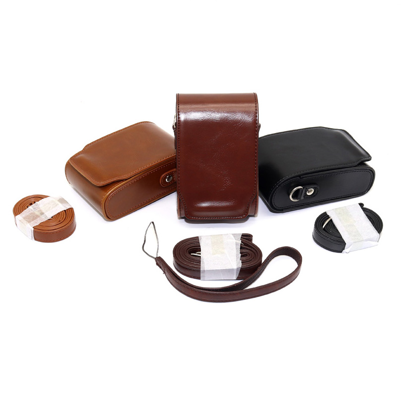 High quality PU Leather Camera Bag Case For Canon G7XII SX720 HS SX710 SX700 SX610 G7X G9X II SX280 SX275 SX260 SX240 N100 D30