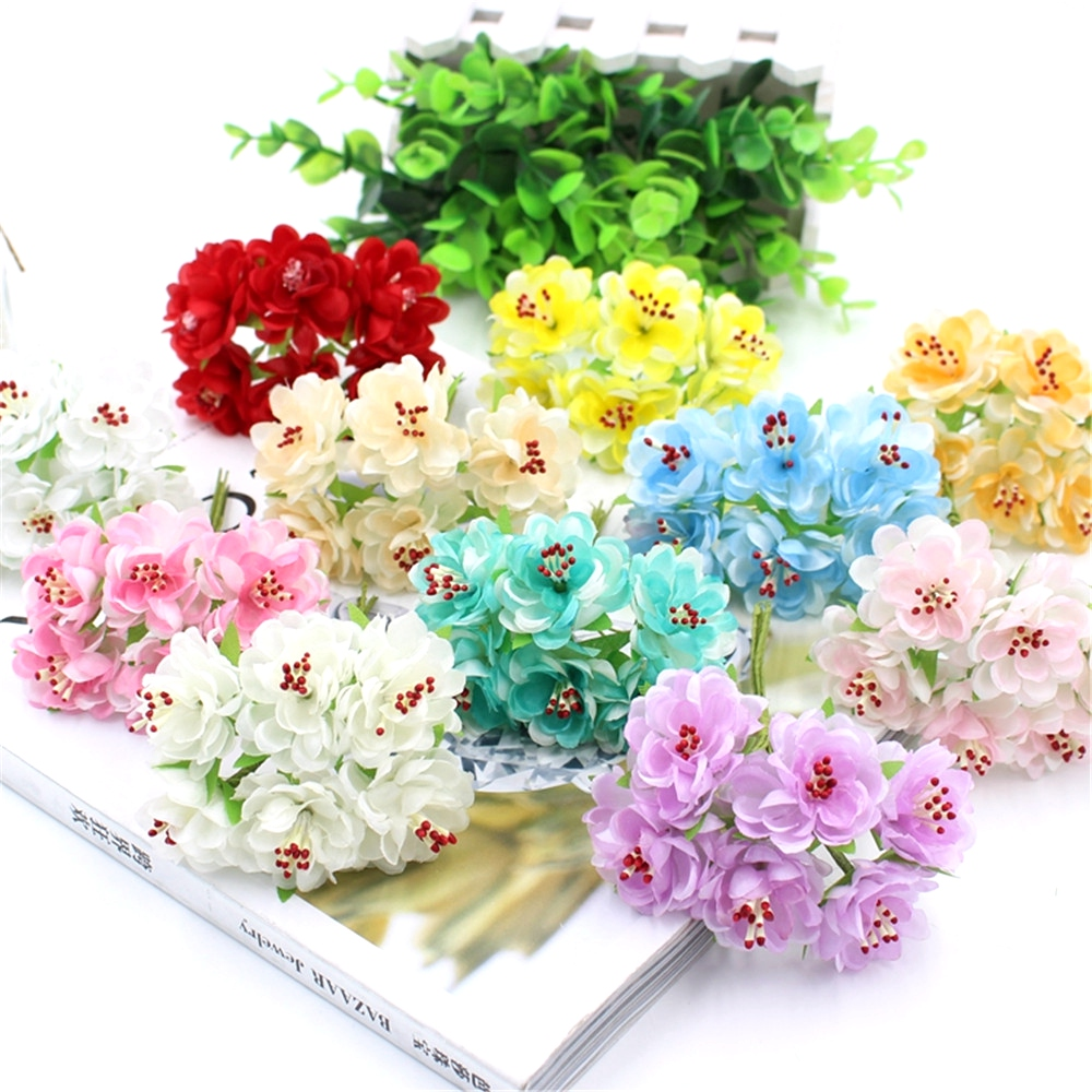 Popular flower flower delivery buy cheap flower flower delivery free delivery 6pcslot 4cm artificial flower bouquet for wedding home decoration chrysanthemum mariage flores dhlflorist Gallery