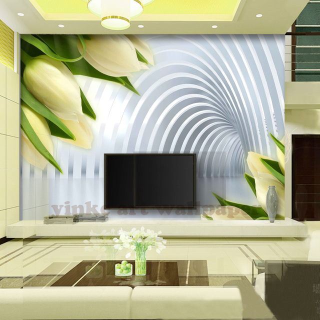 Custom 3D Photo Wallpaper European Minimalist Living Room TV Sofa Backdrop Painting Arches Stripe Abstract