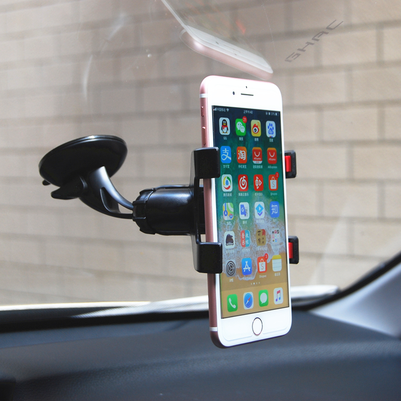 360 Rotatable Stand Mount Phone Holder Flexible Tube Car Phone Holder Car Mount Mobile Phone Holder For Smartphone 3.5-6 inch