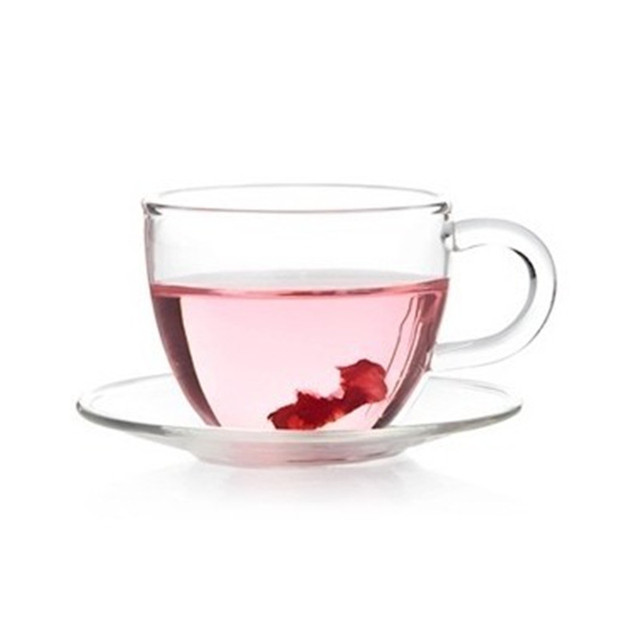 4240b0b9a5 Tea Set 80ml Heat Resistant Clear Glass Coffee Tea Cups Mugs +Saucer ...
