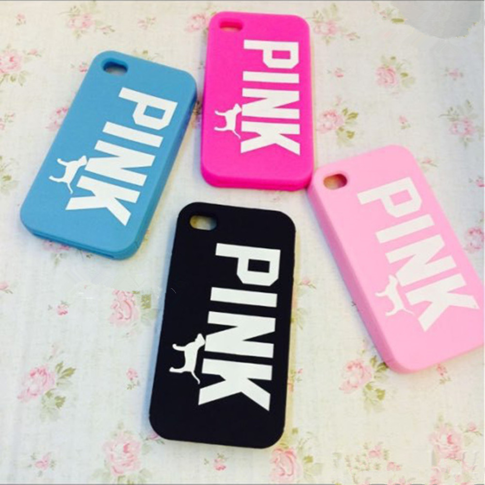 official photos 5ef02 12bde US $5.38 |Brand Luxury Victoria/'s Secret PINK Dog Soft Silicone Case Cover  For iPhone 5 5S 6 6 Plus Cartoon Rubber Case Cover Coque Capa on ...