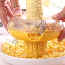 2 шт./лот круглый прибор для чистки кукурузы со встроенным лезвием из нержавеющей стали для быстрого и легкого Молотьба кукурузы для домашней кухни кухонные инструменты