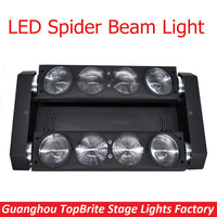 FreeShipping 2Pcs Lot 8x10W NEW Moving Head Led Spider Light 4in1 RGBW Led Party Light DJ