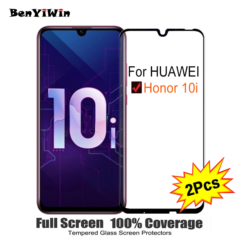 2PCS Full Cover Screen Protector Tempered Glass For Huawei Honor 10i 6.21