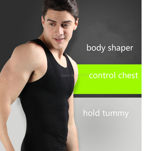 Image 4 - Correct Posture Corset Body Shaper Male Slim Lift Shirts Chest Binder Tops Men Slimming Belly Compression Sleeveless Vest 8230