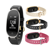 S3 Smart Band Bracelet Girl Women Smartband Heart Rate Bracelet Wrist Smartband Lady Female Fitness Tracker