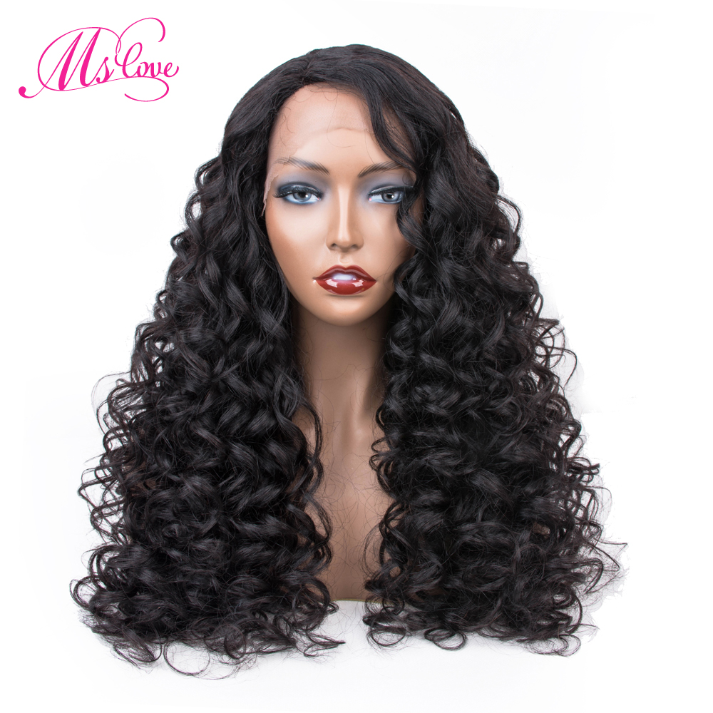 Curly Human Hair Wig Brazilian Lace Front Human Hair Wigs For Black Women Full and Thick Free Shipping   non remy hair-in Human Hair Lace Wigs from Hair Extensions & Wigs    1