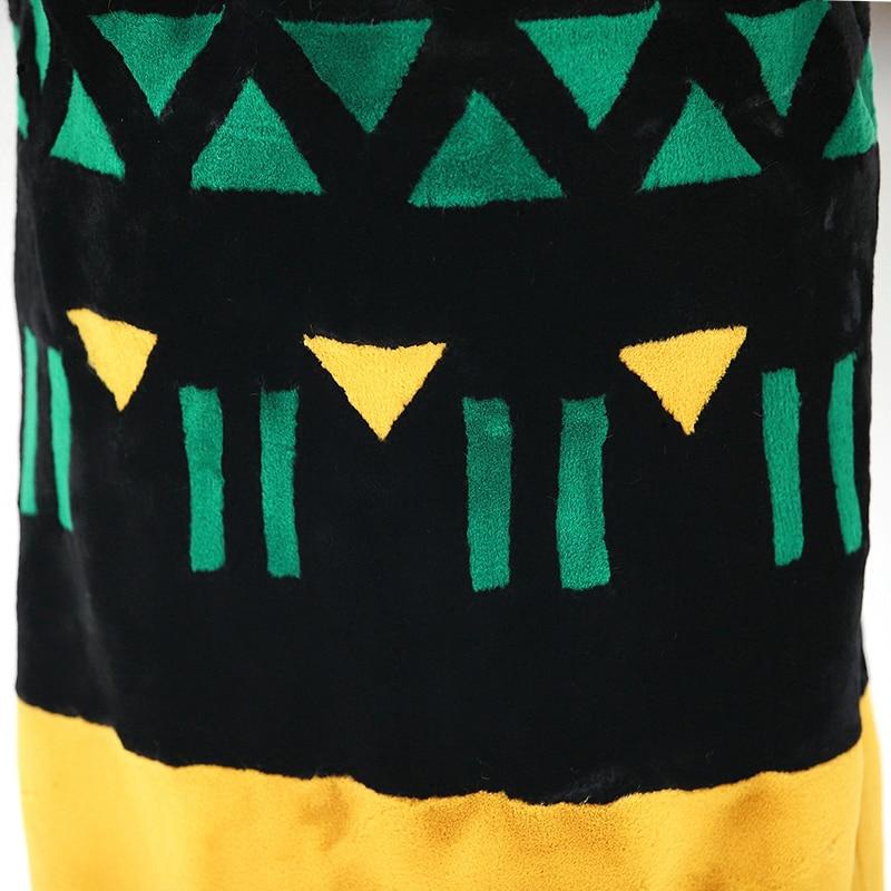 Nerazzurri Kunstpelzmantel Frauen 2019 Winter Kontrastfarbe Elegant - Damenbekleidung - Foto 6