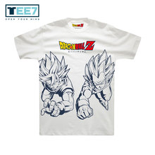 Goku and Vegeta Tag Team Gold Print Tee Shirts
