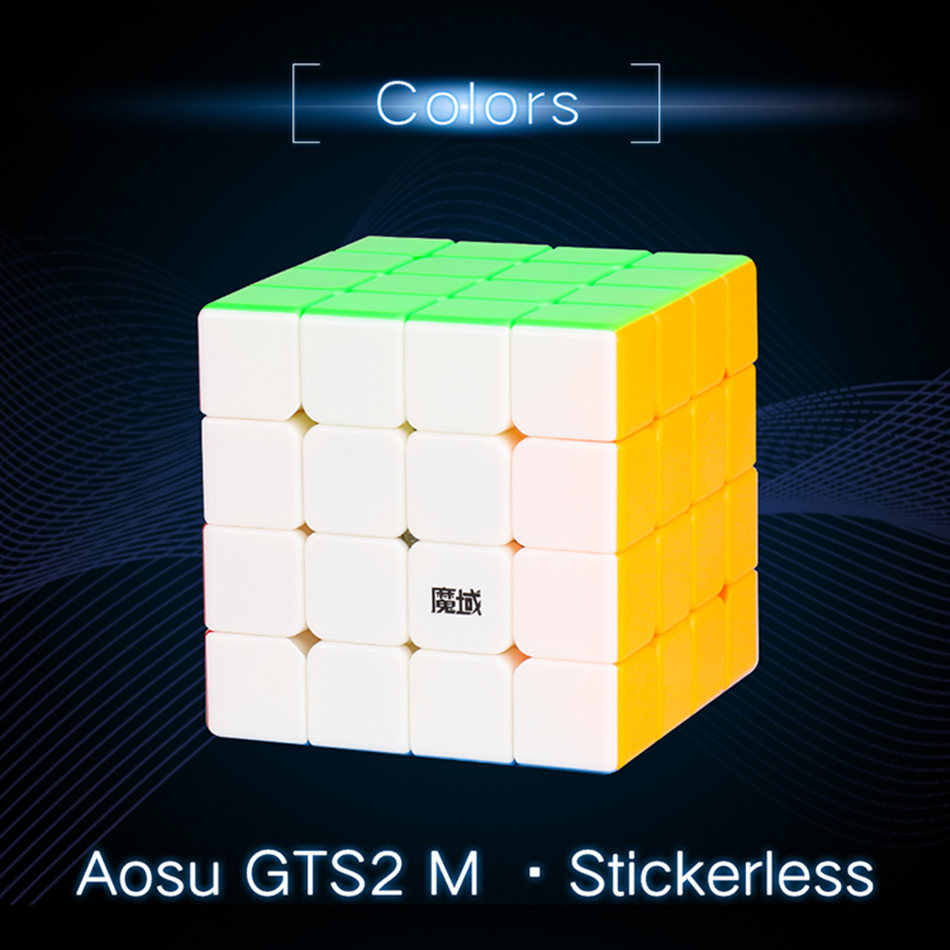 Moyu 4x4 مكعب AoSu GTS2 M المغناطيسي المكعب السحري AoSu GTS2 4x4x4 سرعة مكعب المهنية لغز لعب للأطفال أطفال هدية لعبة