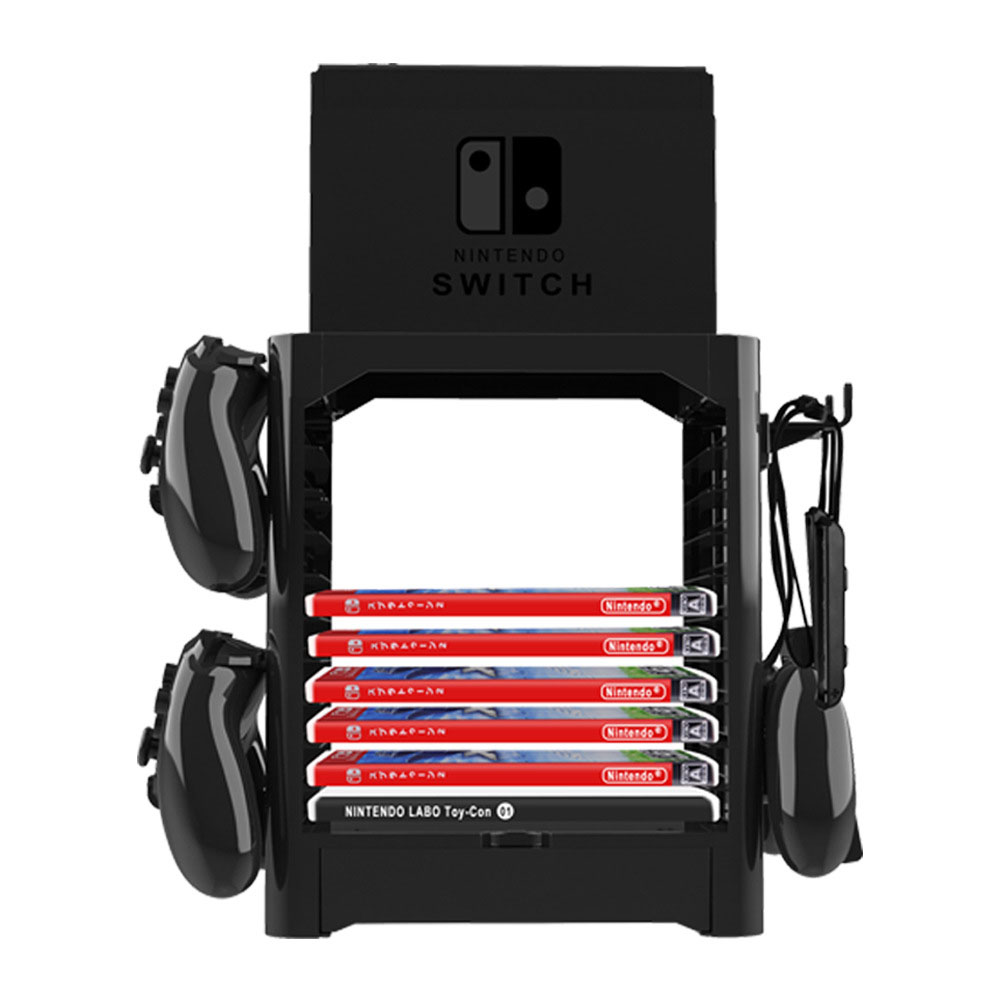 Multifunctional Disk Storage Tower Game Card Box Stand Holder Bracket for Nintend Switch  Console Controller