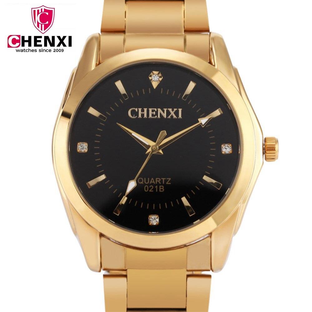 CHENXI Men Watch Brand Design Full Golden Stainless Steel Strap Good Quality Man Quartz Wristwatch Relogio Masculino PENGNATATE moulinvilla