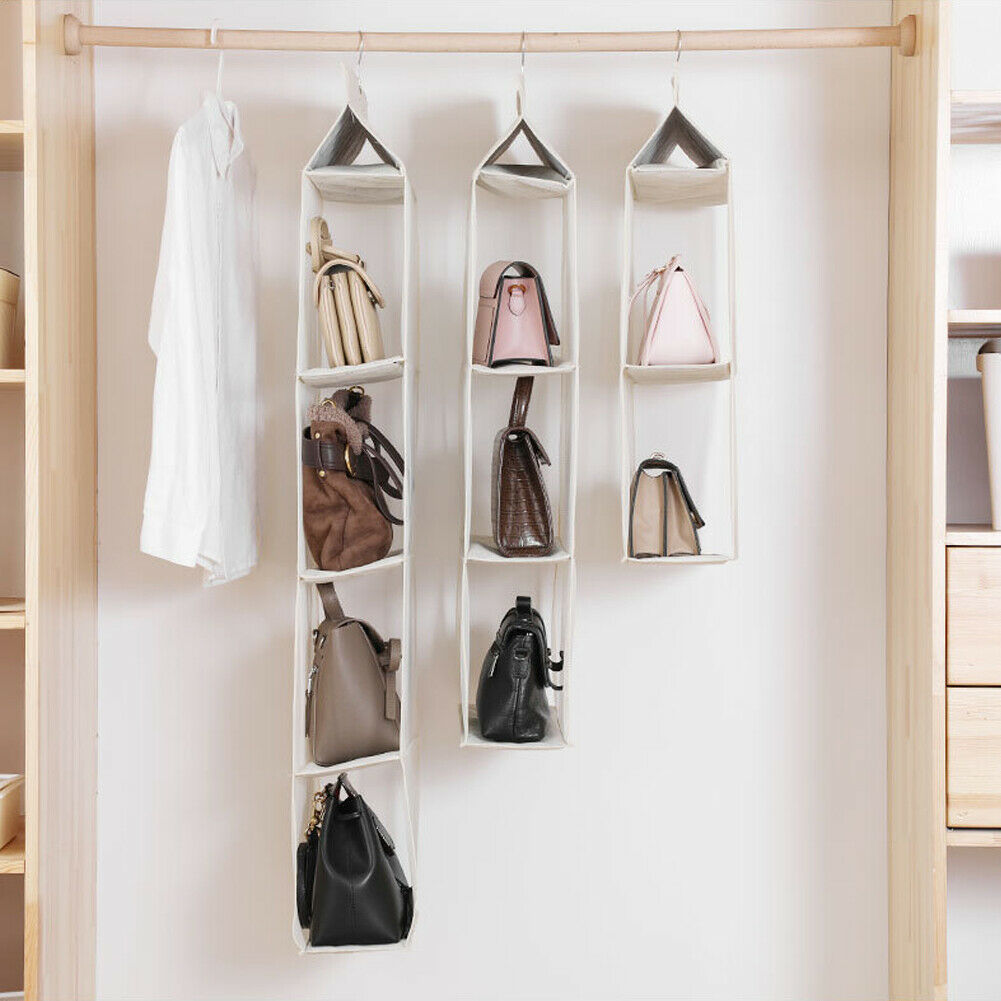 2 3 4 Layers Folding Hanging Handbag