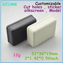 Бесплатная доставка маленький пластиковый корпус (1 шт.) 51*36*15 мм панели шкафа электроники корпус из пластика abs