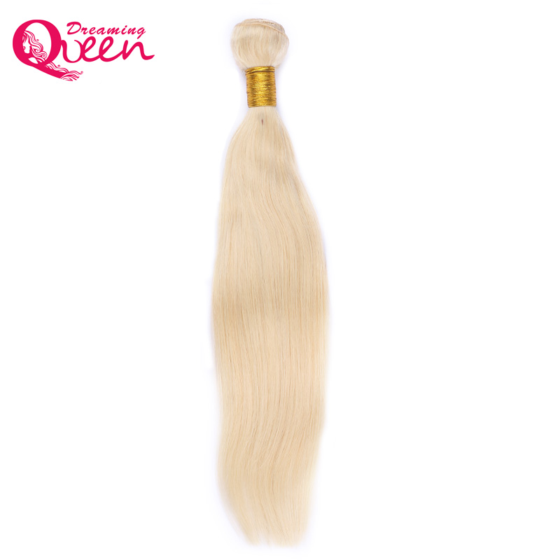 #613 Blonde Color Weave 1 Bundle/Pcs Brazilian Straight Human Hair Extensions 100% Non Remy Human Hair Dreaming Queen Hair