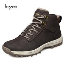 Для мужчин зимние рабочие Обувь открытый Снегоступы рабочие Сапоги и ботинки для девочек Военное Дело рабочие ботинки дезерты повседневная обувь мужские Армейские ботинки Обувь