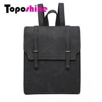 Toposhine Fashion Women Backpack High Quality PU Leather Backpacks Teenage Girls Female School Bag Fashion Lady