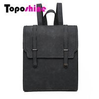 Toposhine Fashion Women Backpack High Quality PU Leather Backpacks Teenage Girls Female School Bag Fashion Lady