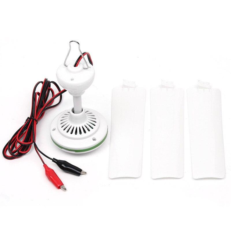 DC12V/24V/48V/60V 6W Plastic 3 Leaves Brushless Converter Motor Battery Mini Ceiling Fan With Switch can use in the car