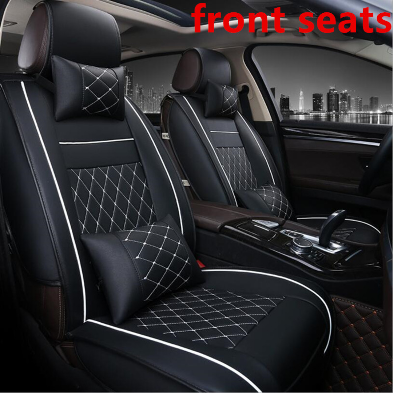 Universal PU Leather Car Seat Covers For Volkswagen Vw Passat Polo Golf Tiguan Jetta Touareg Auto Accessories Car-styling 3D