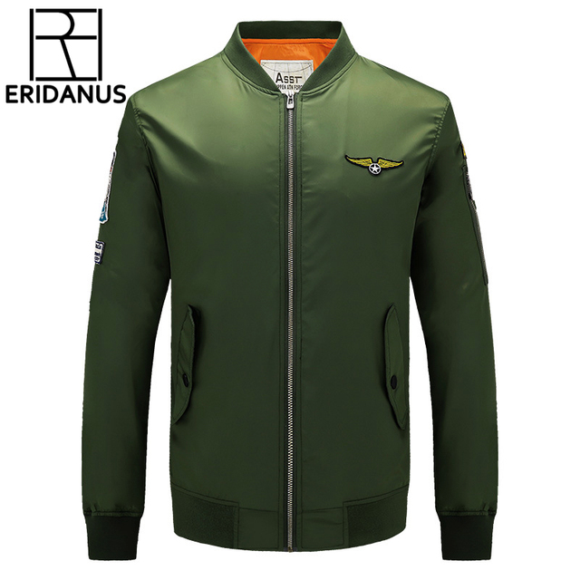 2016 Men's Autumn Ma1 Pilot Bomber Jacket Military Army Flying Leisure Windproof Jackets Fashion Cool Flight Clothing M348