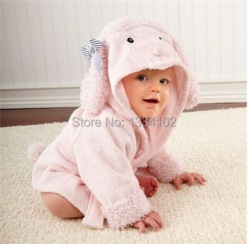 Menina menino Retail bebê Animal roupão / Baby banho com capuz toalha / crianças banho de terry crianças infantil banho / bebê roupão HoneyBaby