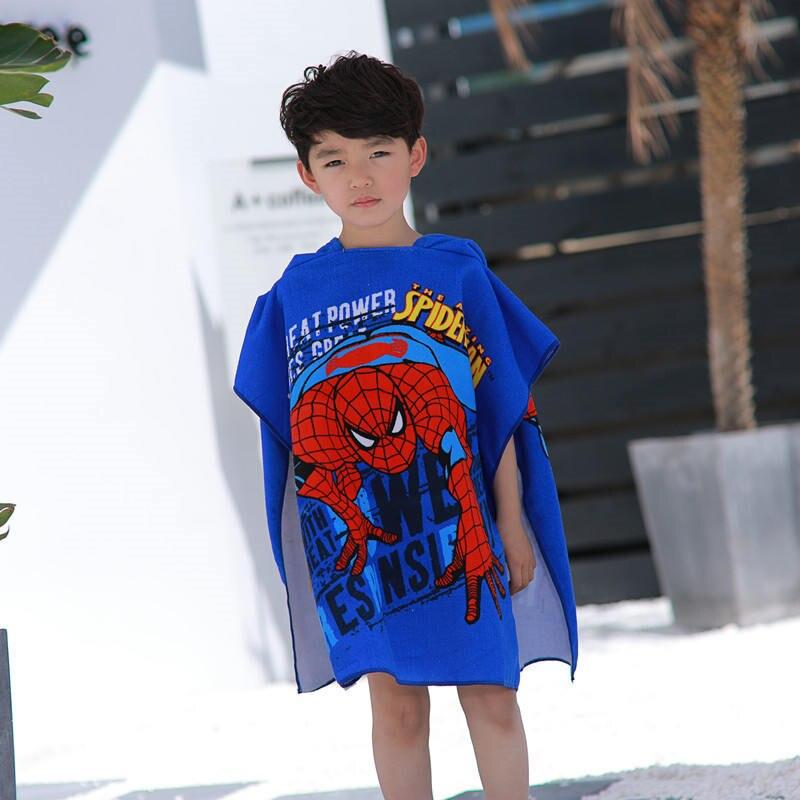 Disney Mickey Frozen Elsa Anna Cars Sofia Hooded Towel Bathrobe Cartoon Children Soft Can Wear Beach Towel Gift For Boys Girls