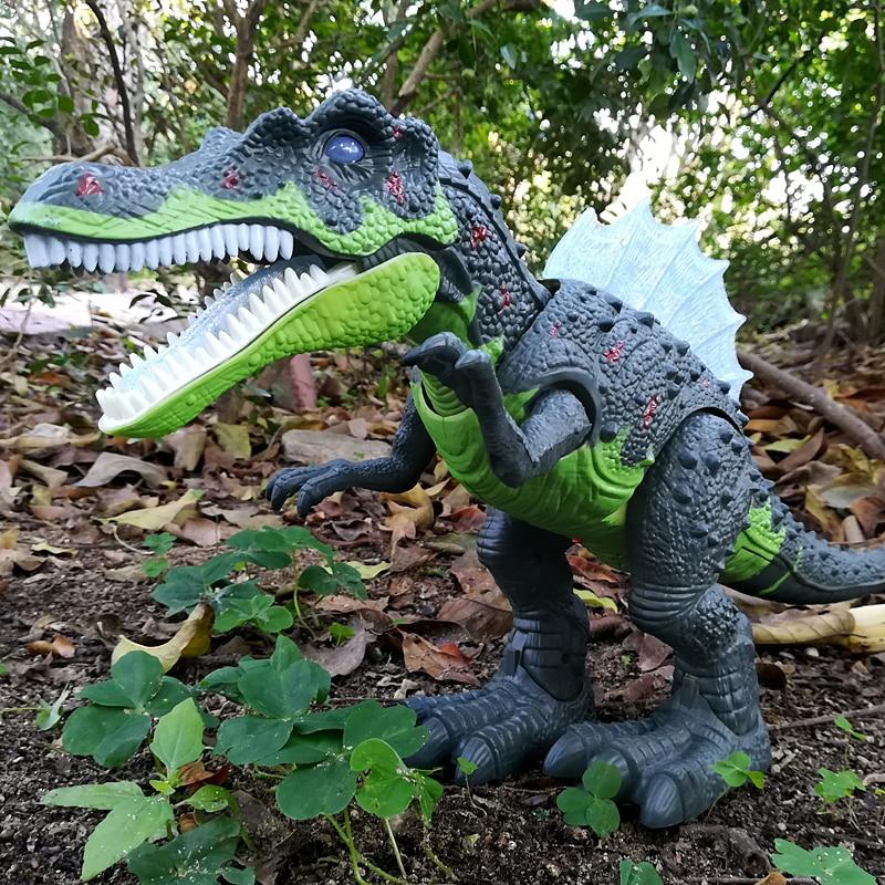 Grand Dinosaure Monde Jouet Lumière Son Marche Simulation Électronique Tyrannosaurus Rex Dinosaure Surprise Jouets Cadeaux pour Enfants