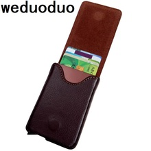 2019 Antitheft Men Fashion Credit Card Holder Blocking Rfid Wallet New Pu Leather holder Aluminum Metal Purse
