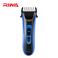 Riwa Low Noise Titanium Ceramic Blade Rechargeable Electric IPX7 Waterproof Hair Trimmer Clipper Haircut Kit