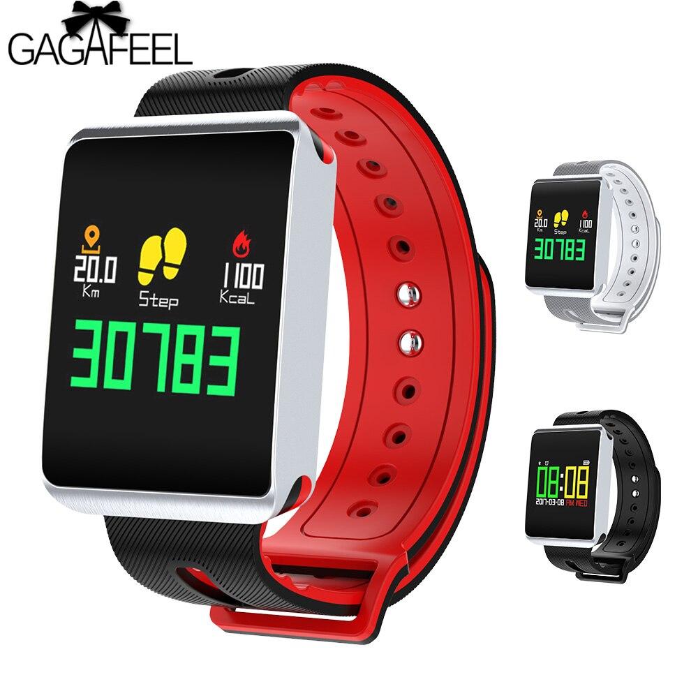 TF1 Bluetooth Smart Armband IP68 Wasserdicht Herz Rate Blut Sauerstoff Schlaf Monitor Smartwatch Aktivität Tracker Armband