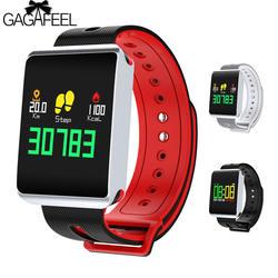 TF1 Bluetooth Smart Браслет IP68 Водонепроницаемый сердечного ритма крови кислородом умные часы с функцией мониторинга сна трекер физической