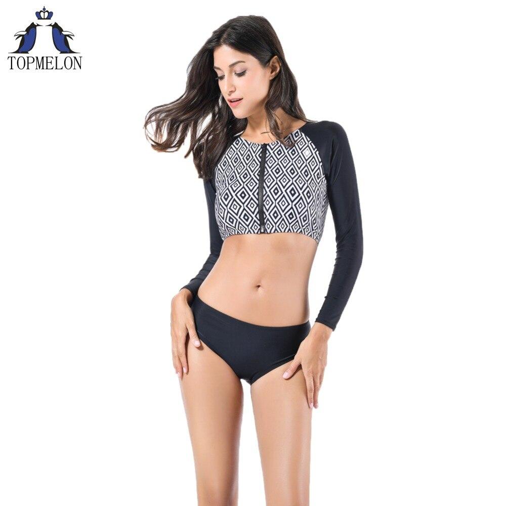 Maillot de bain bikinis set 2017 femmes bikini brésilien sexy à manches longues Maillots de Bain Maillots De Bain Femelle de Bain suitl Beachwear biquini
