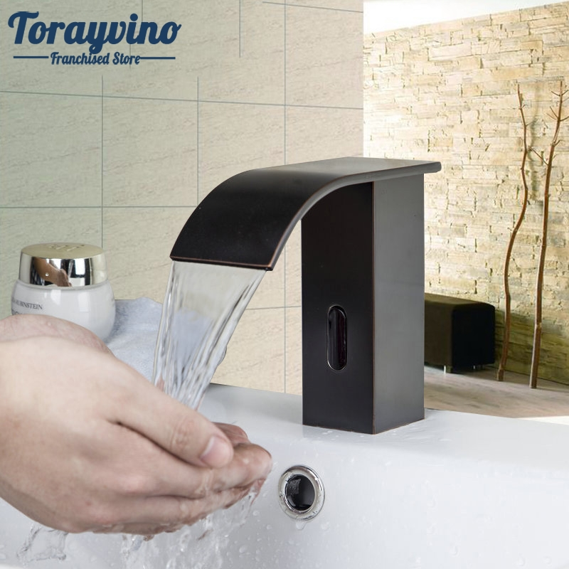 Bathroom Basin Faucet Luxury Sense Faucets Sink Mixer Oil Rubber Brushed Waterfall Single Handle Hole Tap Deck Mounted. becola basin faucet luxury bathroom golden mixer single handle single hole deck mounted waterfall tap lt 509 free shipping