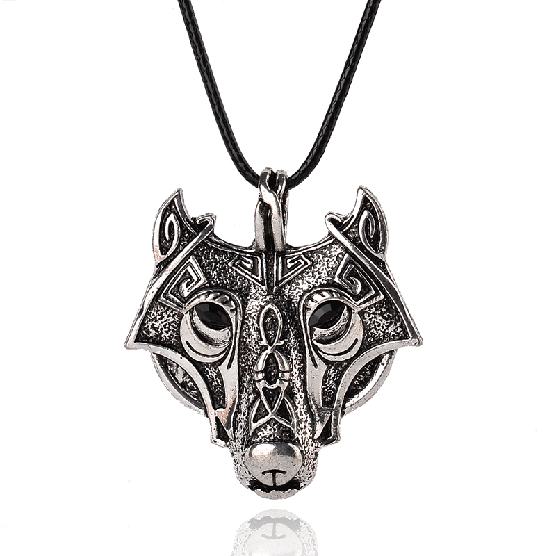 2016 Hot Sale Wild Animal Wolf Head Maxi Necklace Vikings Necklace & Pendants For Men Domineering Courage Kerst Gifts Jewelry