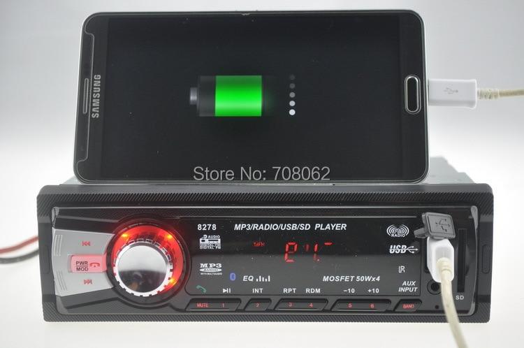 12V автомобиль радио bluetooth автомобиля Радио стерео проигрыватель Bluetooth телефона AUX-IN MP3 FM/USB/1 Din/Дистанционное Управление для iPhone/samsung