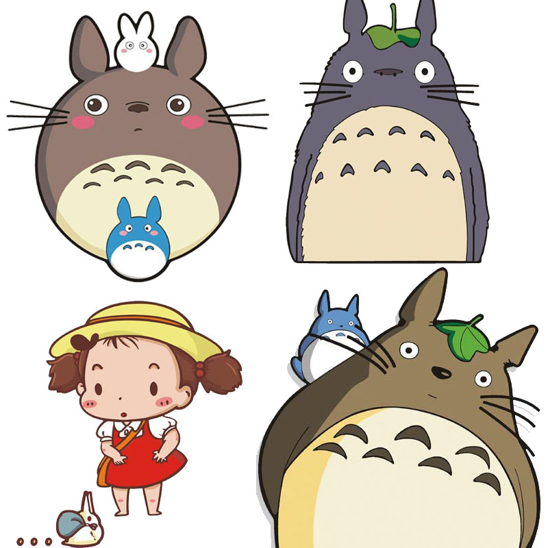 totoro stickers 2016 new sticker sticker muraux en francais pour pour salon barri re de. Black Bedroom Furniture Sets. Home Design Ideas
