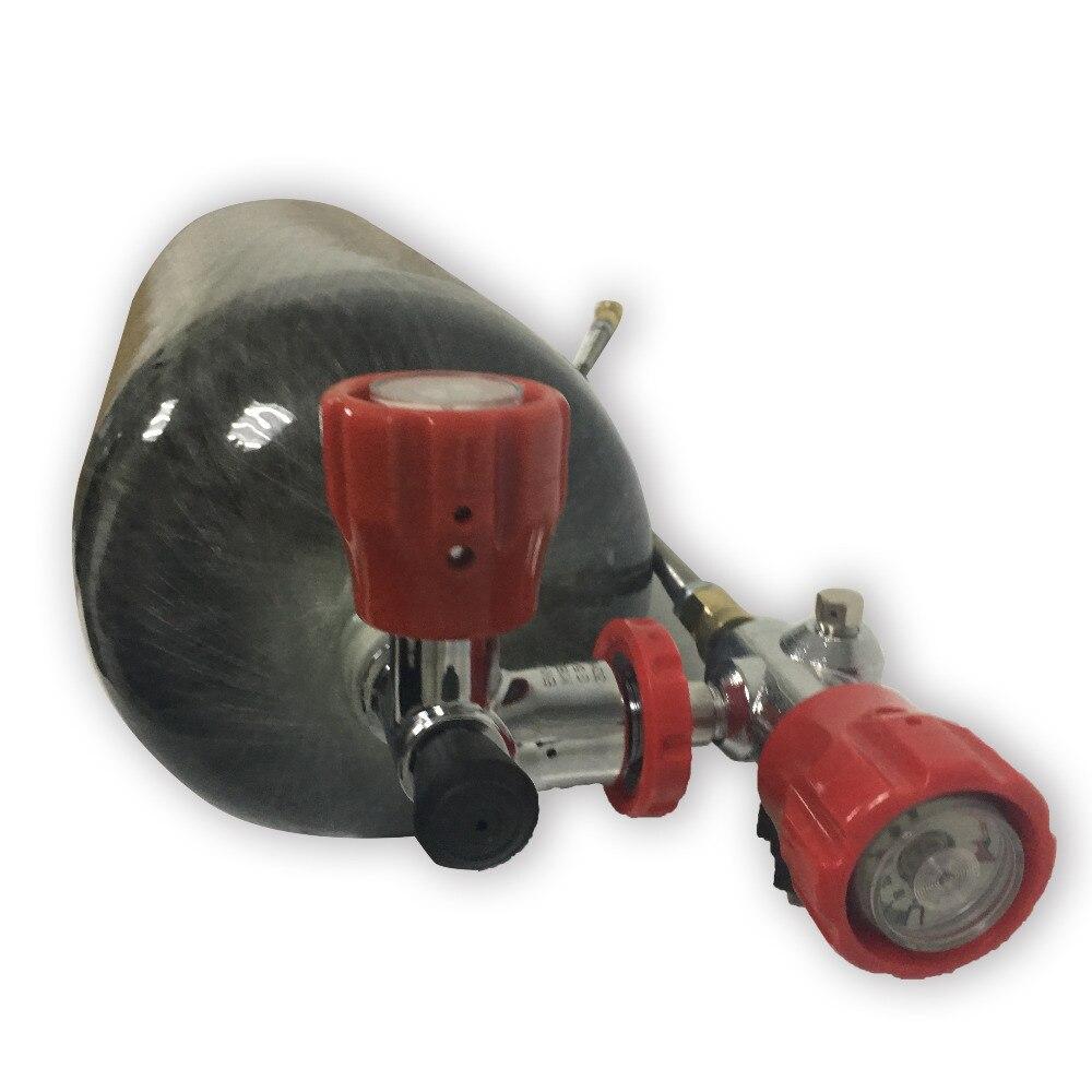 2018 Nouveau CE certificat 9L fiber de carbone SOUS-MARINE cylindre 4500psi composite plongée réservoir pour recharge avec valve et station de remplissage