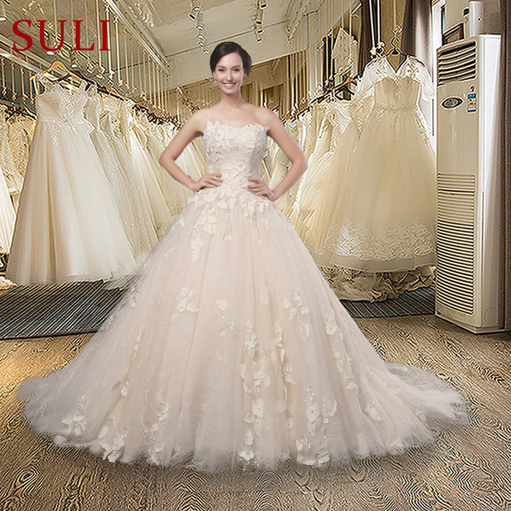 Christmas wedding dress zipper - Sl 020 Amazing Strapless Appliqued Zipper Ball Gown Chapel Train Wedding Dress China