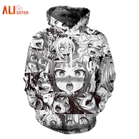 Alisister Ahegao Hoodies Sweatshirt 2017 Autumn Winter Men S Long Sleeve Pullovers Funny 3d Print Tracksuit