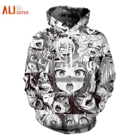 Alisister Ahegao Hoodies Sweatshirt 2017 Autumn Winter Men S Long Sleeve Pullovers Funny 3d Print Tracksuit