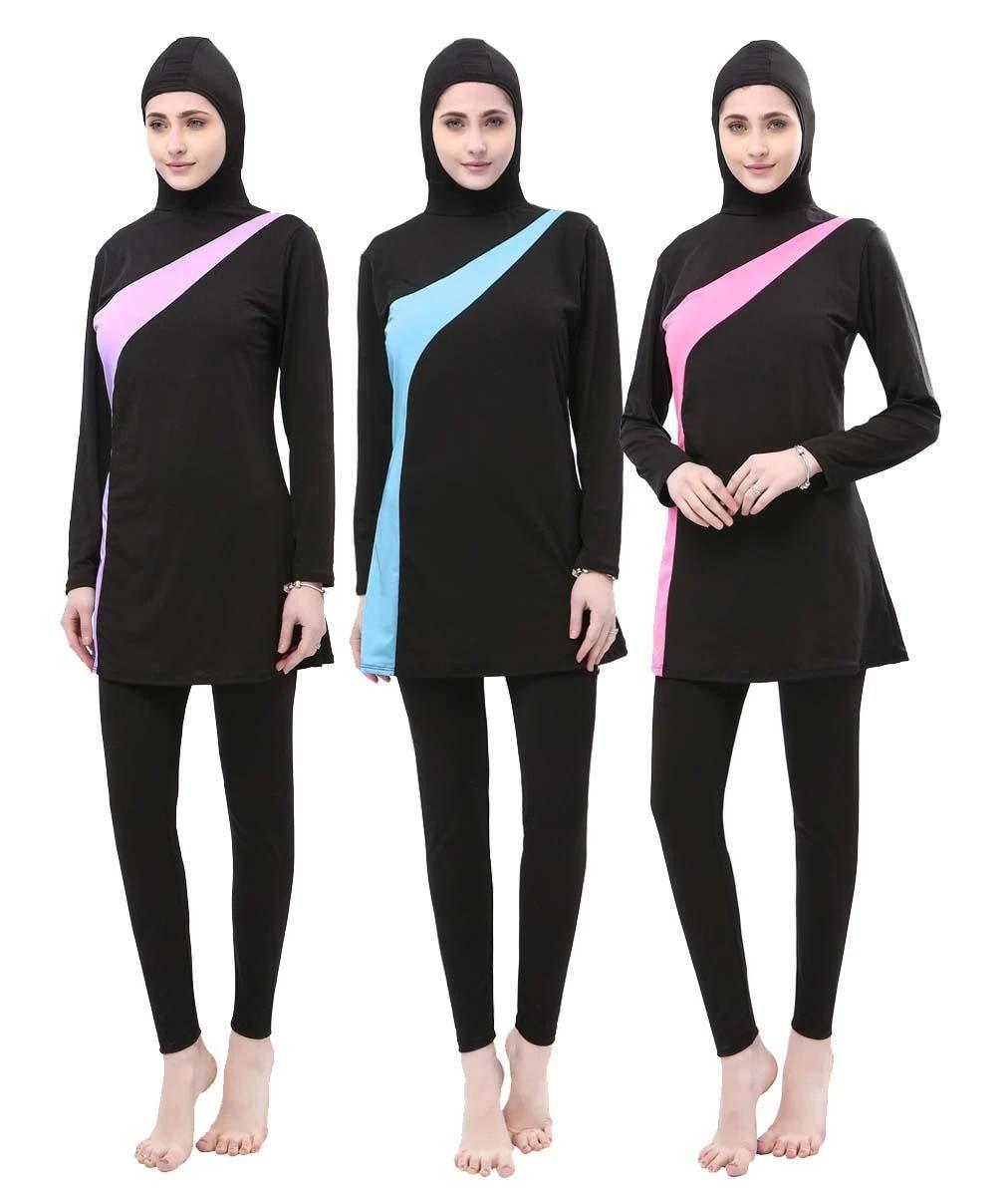 Modesty Muslim Women Swimwear Burkini Swimsuit Full Cover Islamic Beachwear New